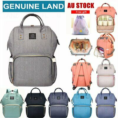 GENUINE LAND Multifunctional Large Baby Diaper Backpack Changing Bag Nappy Mummy