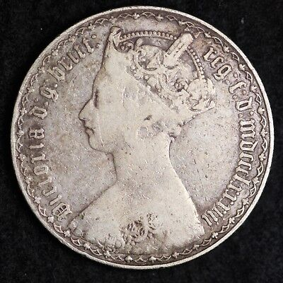 1883 Great Britain Silver Florin Two Shillings Mid Grade Free Shipping A31