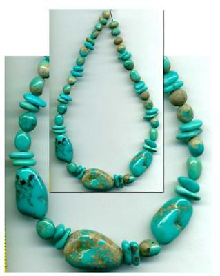Mexican Caballo CAMPITOS Mine Turquoise BEADS~100% Natural Color 4-18mm