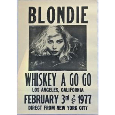 BLONDIE Whiskey A Go Go POSTER USA 1977 Repro Promo Concert Poster Aprox 42 X