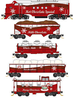 Micro-Trains MTL N-Scale Hot Chocolate Special Christmas Train Set Loco/4 Cars