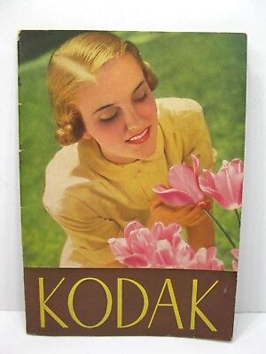 Original March 1939 Eastman KODAK Catalog Brochure Cameras & Accessories