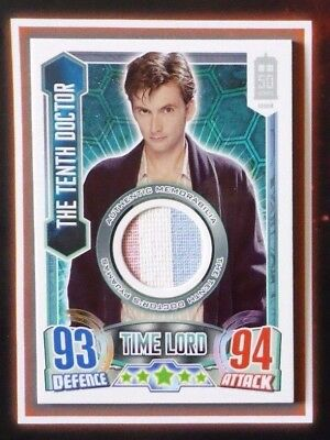 Dr Who ALIEN ATTAX 50th Anniversary THE TENTH DOCTOR 0110/2800 Costume Card