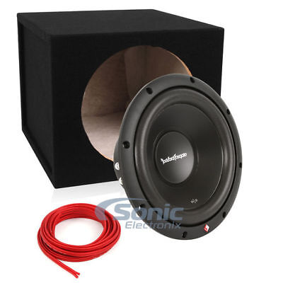 "10"" Rockford Fosgate Prime R2D4-10 + Sealed Enclosure and Wire"