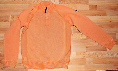 Napapijri: Pullover Troyer washed orange Gr. 16 (170/176) - cool!