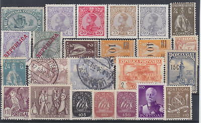 PORTUGAL - LOT OLD STAMPS - *MH*/**MNH**/used