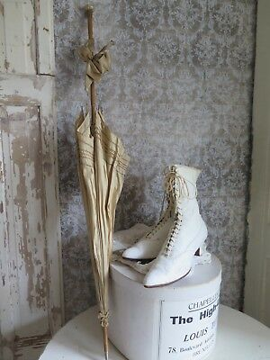 Antique Parasol Flanierschirm Antik Cream Schirm Brocante french SHABBY
