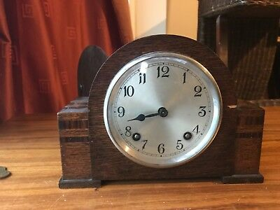 Mantel Gerrard Clock working order with chimes and key.