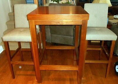 Cherry Table & 2 Teak Chairs	- Cherry/Teak (LOCAL PICK-UP ONLY)