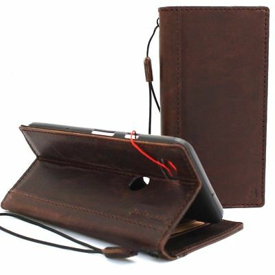 vintage genuine real leather case for Google Pixel 3 XL book wallet cover stand