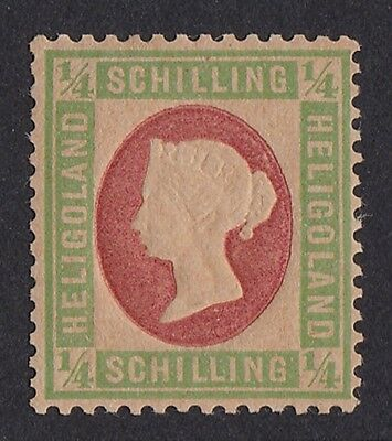 HELIGOLAND 1869 QV Embossed ¼sch ERROR OF COLOUR EXPERTISED!
