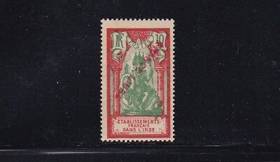 French India Mint Stamp-Overprint in Red Sc#121 MNH CV$7