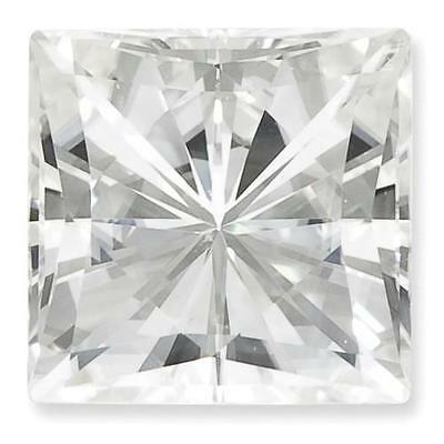 1 Taille Princesse Moissanite Blanc Brillant 10mm Diamètre 5.97 Carats
