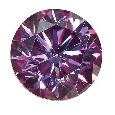 1 Coupe Ronde Brillant Moissanite Chic Violet 7mm Diamètre 1.20 Tw Pierre