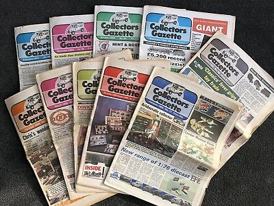 Vintage die-cast train toy Collectors Gazette from 1989/90 bundle of 10 issues