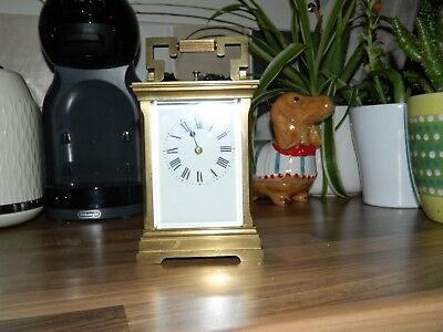 Large French Repeater Carriage Clock Needs A Good Clean And Polish