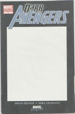 Dark Avengers #1 Blank Variant Cover NM/NM+ (2009) 1st Appearance Iron Patriot
