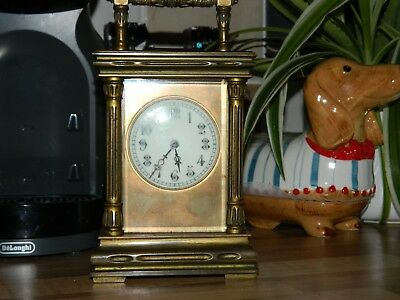 Large French Striking Carriage Clock Needs A Good Clean And Polish