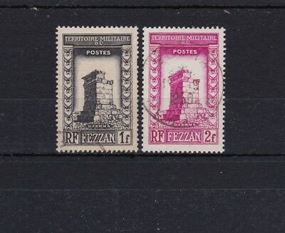 Fezzan - 1949 SG40,41 USED 1F & 2F stamps