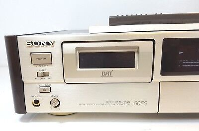 SONY DAT DTC-60ES Digital Audio Tape Recorder - Gold - with remote & manual