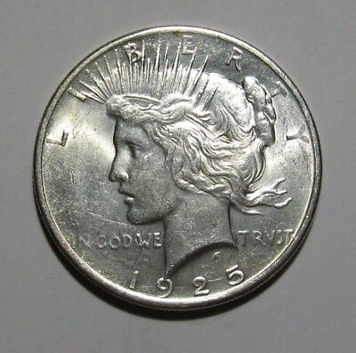1925 Peace Dollar - BU Condition / Scratched - 245SA