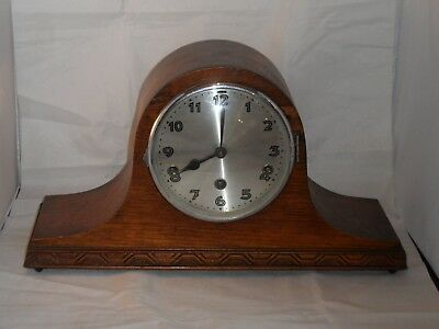 """Vintage Napoleon? Hat Mantle Clock Westminster Chimes 17"""" (43cms) Long Working"""