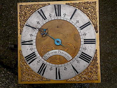 10 HOOP AND SPIKE  30HR c1740 LONGCASE   CLOCK dial + movement