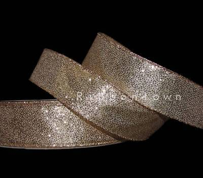 """5 Yds Christmas Red Silver Shimmer Ombre Glitter Sparkly Wired Ribbon 2 1//2/""""W"""