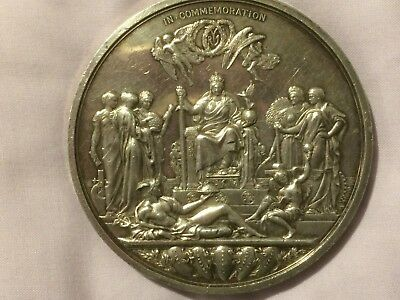 super Victoria victorian 1887 jubilee large size medallion 77mm 220g