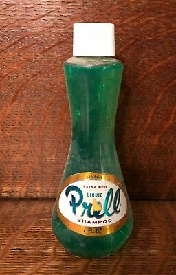 Unopened Vintage Full Glass Bottle of Prell Shampoo 7 oz