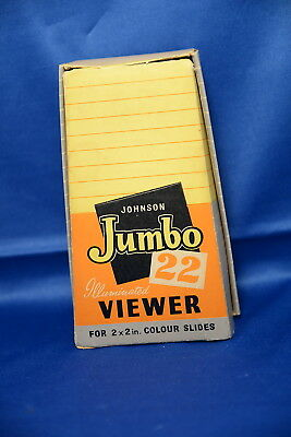Vintage Johnson Jumbo 22 Illuminated Slide Viewer - Boxed