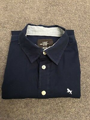 Boys H&M Dark Blue Long Sleeved Shirt L.O.G.G. Age 12 - 13 Years Eur 158 Cm