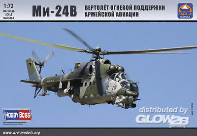 ARK Models 72042, MiL Mi-24V Russian Aerospace Forces atta helicopter in 1:72