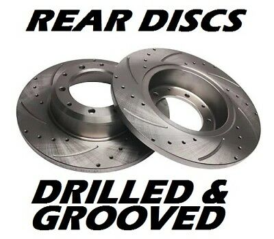 HONDA CIVIC 2002-2004 2.0 TYPE S Drilled Grooved Brake Discs REAR 260mm 4 stud