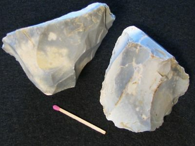 60.000Y.O:GREAT 2x CORE 86mms NEANDERTHAL STONE AGE PALEOLITHIC MOUSTERIAN FLINT