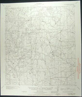 Las Mujeres Texas Webb Duval Counties 1956 vintage USGS original Topo chart map