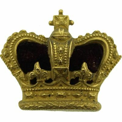 VICTORIAN Officers Insignia Queen Victoria Crown Pip Rank of Major - AX60
