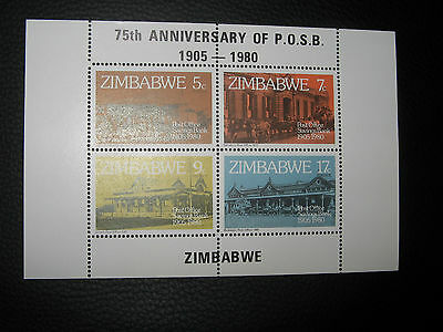 Zimbabwe 1980 SG MS601 POSB Anniversary  Mini-sheet