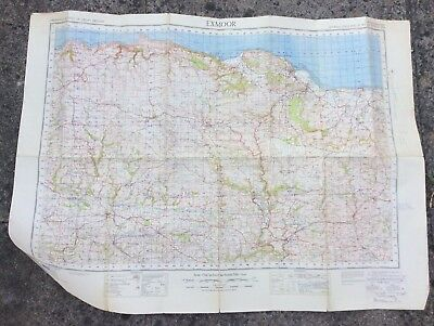 Ordnance Survey Map Of Exmoor 5th Edition Sheet 119 War Revision 1940