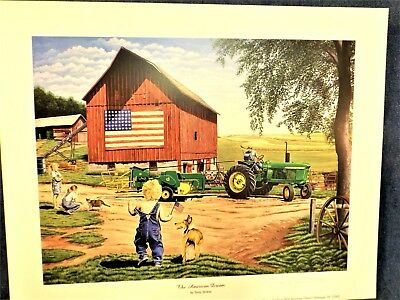 John Deere 4020 Tractor Print -The American Dream - Terry Downs - Print Only