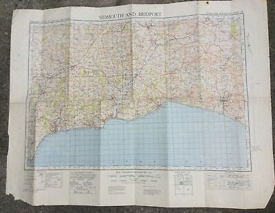 Ordnance Survey Map Of Sidmouth 5th Edition Sheet 139 War Revision 1940