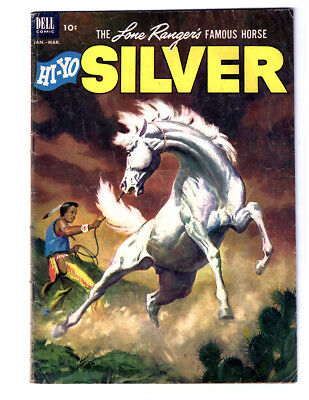 The LONE RANGER 'S HORSE SILVER #5 in VG+ a 1953 DELL Golden Age western comic