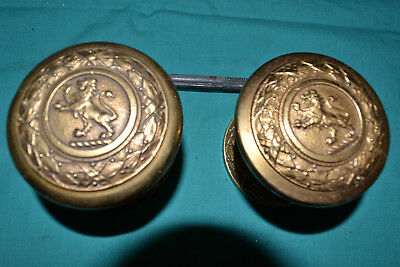 Antique Vintage Aesthetic Set Of Brass Door Knobs With Matching Rosettes #23