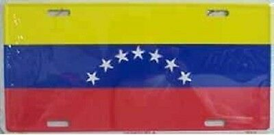 "Aluminum National Flag Venezuela ""License Plate"" NEW"