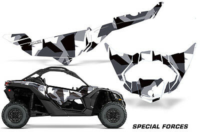 UTV Decal Graphics Kit Wrap For Can-Am Maverick X3 DS RS 2016-2018 SPCL FORCES W