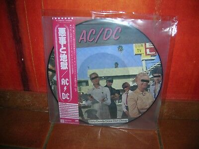 Ac/dc - Dirty Deeds Done Dirt Cheap Lp Picture Disc Megarare Collector !!!