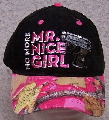 f3790be12e8 Embroidered Baseball Cap 2nd Amendment No More Mr. Nice Girl NEW 1 size  fits all