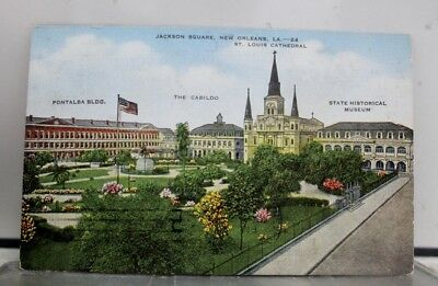 Louisiana LA New Orleans St Louis Cathedral Jackson Square Postcard Old Vintage