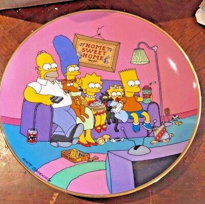 Simpsons Family Decorative Plate  Limited Edition Franklin Mint / Bart Simpson