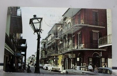 Louisiana LA French Quarter New Orleans Postcard Old Vintage Card View Standard